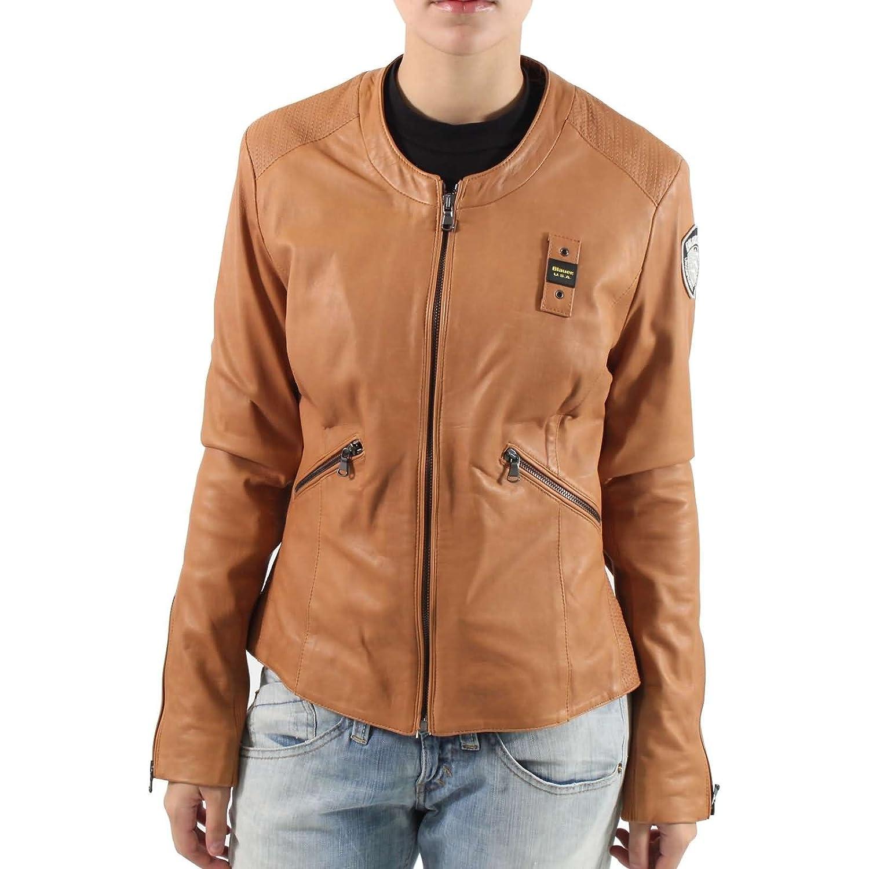 BLAUER Damen Lederjacke CAPO SPALLA PELLE FODERATO BLD0599 in Braun günstig kaufen