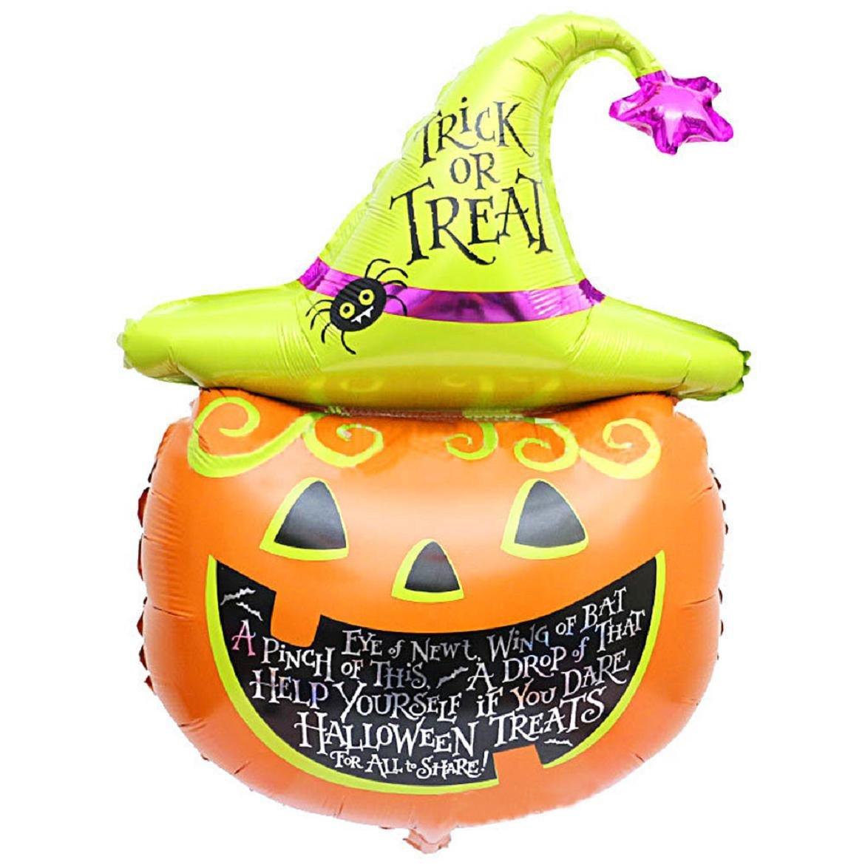 Sankuwen Pumpkin Foil Halloween Balloons