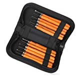 Wood Carving Tools,Delicacy 12 Set Professional Carbon Steel Carving Chisels Knife Kit for DIY Sculpture Carpenter Experts & Beginners (Color: Yellow)
