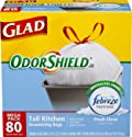 80-Count Glad 13-Gallon Drawstring Trash Bags