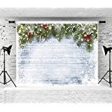Kate 10x8ft Christmas Backdrop Wood Board Backdrops Snow Background Studio Photo Props (Color: 112025, Tamaño: 10x8ft)