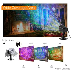 Greenclick Christmas Projector Lights 10 Colors Changing Ocean Wave Projector LED Night Light for Bedroom Wedding Party (Color: Christmas Projector Lights)