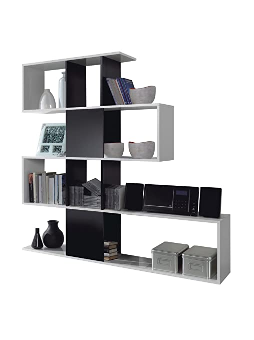 Habitdesign 1t2251bo estanteria zig zag acabado blanco - Habitdesign muebles ...