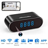 Spy Camera Clock Hidden Nanny cam 1080P with Night Vision/Motion Detection/Loop Recording, Phone APP & PC Software Remote Monitored Mini Smart cam for Home Security Monitoring (Color: 1080P)