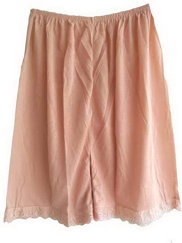 Damen Nylon Halb Slips Neu Rosa PPNPK Pink Half Slips Women Pettipants Lace