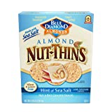 Blue Diamond Almonds Nut Thins Cracker Crisps, Hint of Sea Salt, 4.25 Ounce