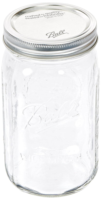 new jarden 52505 wide mouth ball jar 32 ounce case of 12 ebay. Black Bedroom Furniture Sets. Home Design Ideas