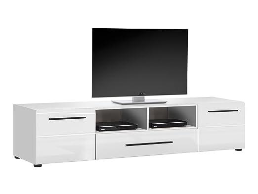 Trendteam sn32401TV Muebles mueble bajo Blanco Brillante, BxHxT 182x 41x 47cm