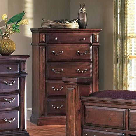 Progressive Furniture Torreon 5 Drawer Chest - Antique Pine