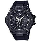 Men's Casio G-Shock G-Steel Black Carbon and Resin Bluetooth Watch GSTB100X-1A (Color: Black)