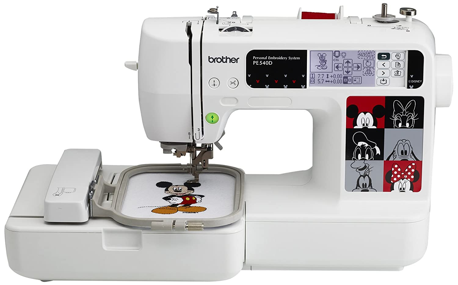 SBrother PE540D 4x4 Embroidery Machine with 70 Built-in Decorative Designs, 35 Disney Designs, 5 Fonts