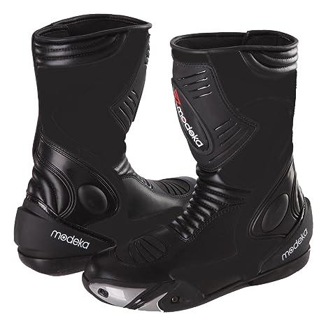 Modeka dONINGTON 2 bottes de moto en cuir noir