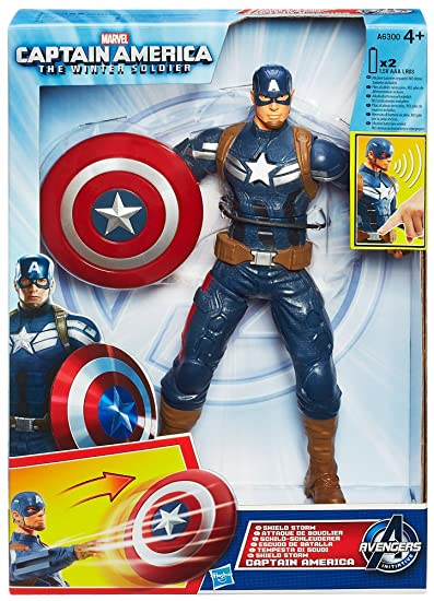 Avengers - A6300E270 - Figurine - Lance Bouclier Capitaine America  - 25 Cm