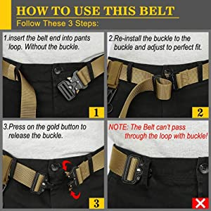 QINGYUN RONGQI 2 Pack Tactical Belt,Military Style Quick