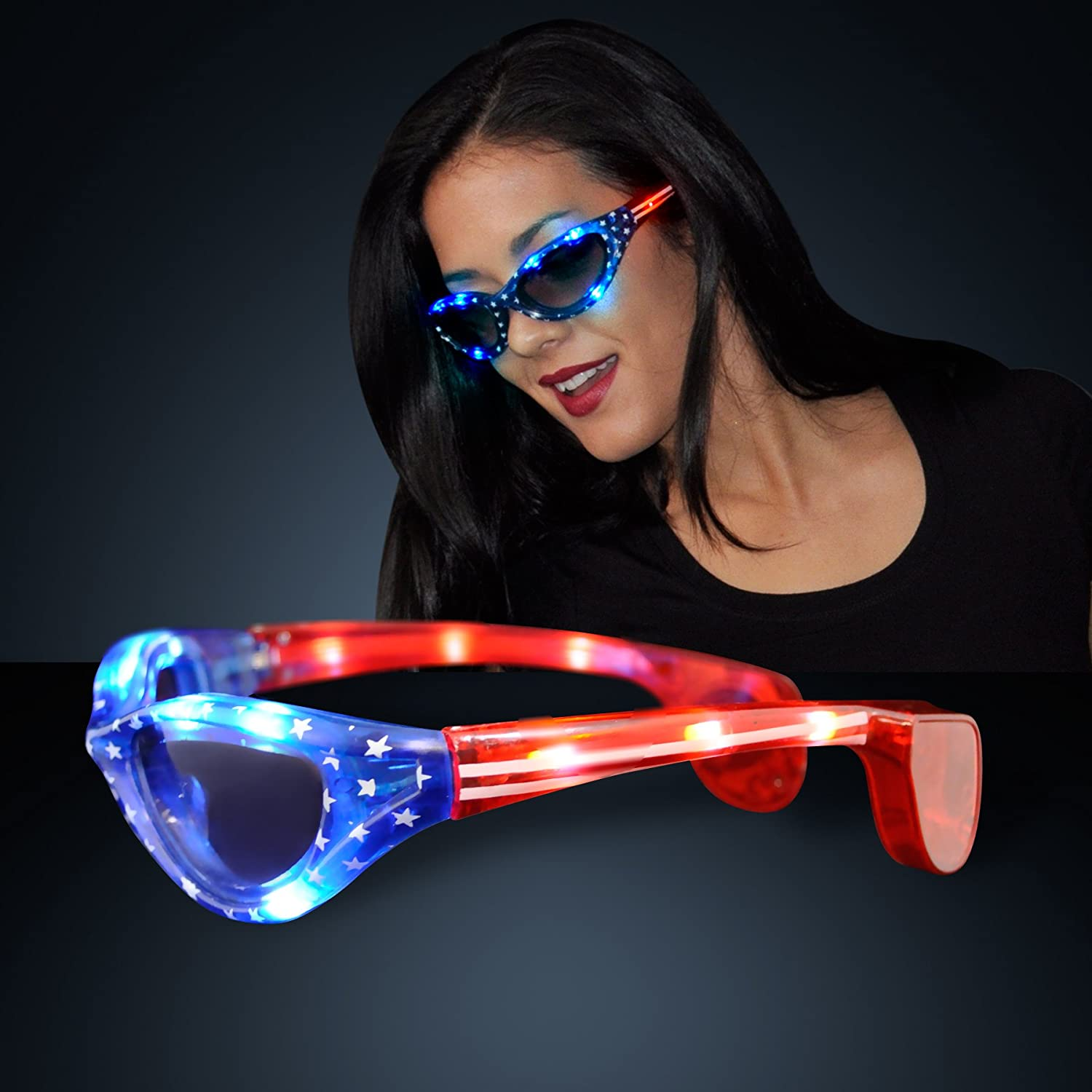 light product led bracelets up glowtopia glasses close