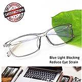 Reading Glasses 2.5 Blue Light Blocking Reader Gaming Screen Digital Eyeglasses Anti Glare Eye Strain Transparent Lens UV Light Weight for Women Men (Color: Crystal Grey, Tamaño: unisex)