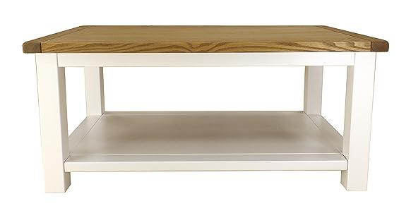 Cabinet bit tavolino aperto con manico in ottone, legno, bianco