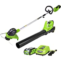 GreenWorks G-MAX 40V Cordless String Trimmer and Blower Combo with 2AH Battery and Charger
