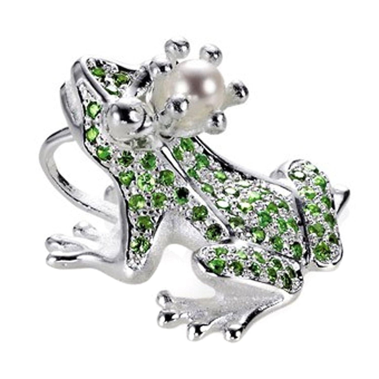 Drachenfels Design Damen-Anhänger 925 Sterling Silber Tsavorit grün D GFR 32-5/AG günstig online kaufen