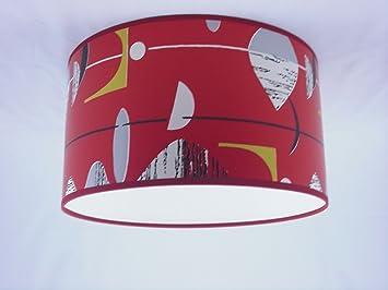 abat jour fait main 28cm 28cm sanderson rouge noir mobile cuisine mobile cuisine. Black Bedroom Furniture Sets. Home Design Ideas