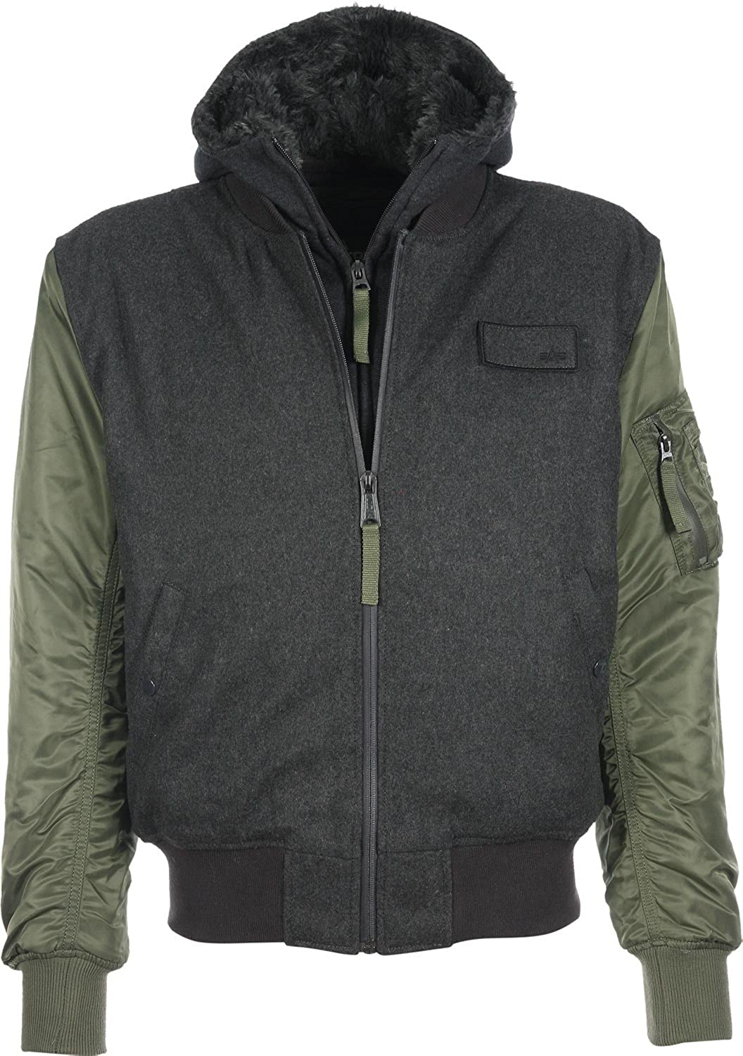 "Alpha Industries Herren Fliegerjacke ""MA-1 D-TEC WOOL"" grey/green jetzt bestellen"