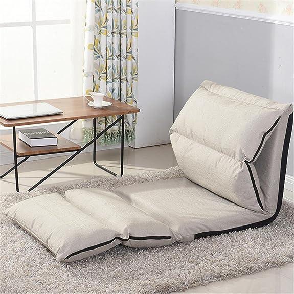 Lazy sofa Tatami singola camera da letto galleggiante sedia Sedia pieghevole sedia dormitorio Sedia letto Letto mini , beige