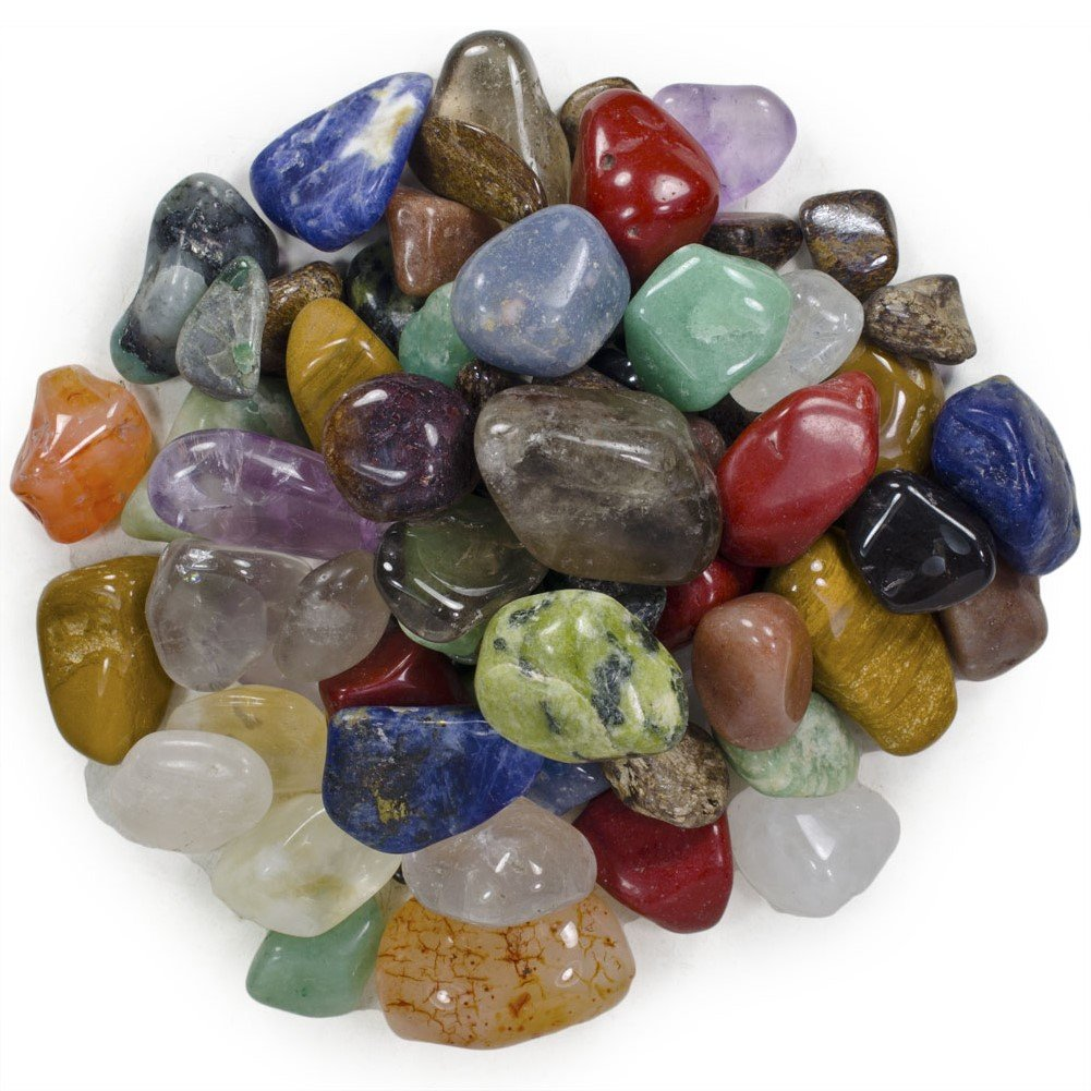 Brazilian Natural Stone : Lb tumbled polished natural stones assorted mix from
