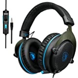 [2017 Newly Updated ] SADES R3 Stereo 3.5mm Gaming Headset with omnidirectional Microphone Reverberation Volume Control Noise Effect for PS4/Xbox One/PC/MAC/Laptop (Blue) (Color: R13)