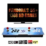 ?1388 HD Arcade Games?Real Pandora's Box 5S plus 2 Players Joystick Arcade Console with 1388 Retro Games Double Arcade Joystick Built-in Speaker Double Arcade Joystick Built-in Speaker