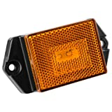 Reflector/Clearance LED Marker Light w/ Ear Mount - Amber Lens - Clearly Mark Your RV, Camper, Trailer or 5th Wheel with an Easy to Install Marker