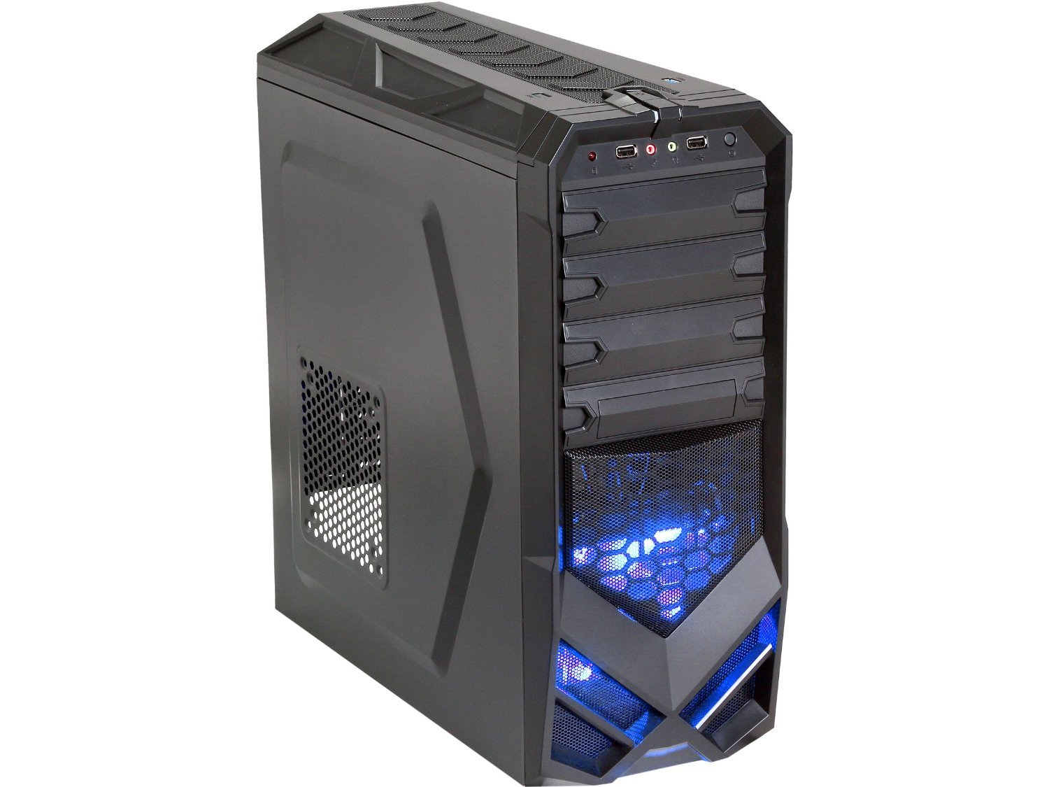 Rosewill ATX Mid Tower Black Gaming Computer Case Galaxy-01 Black
