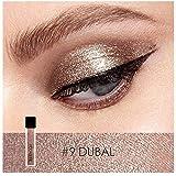 Hot Sales! Shimmer Metallic Liquid Eyeshadow FOCALLURE Waterproof Glitter Liquid Eyeliner Colorful Beauty Shiny Smoky Eyeshadow (Color: #9 DUBAL)