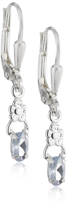SilberDream Damen-Ohrringe kleine Blume