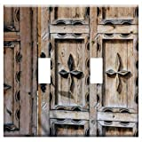 Switch Plate Double Toggle - Door Ornament Wooden Door Input Decorated