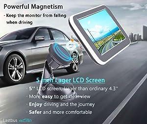 Wireless Backup Camera, Backup Camera, LASTBUS Anti-Theft Rear View 5 Inch Monitor and Waterproof Night Vision Reversing Camera for Car, Van, Truck, SUV, RV, Pickup (Color: WX-2, Tamaño: Wireless-5')