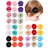 QandSweet 36 Pack Baby Girl's Hair Clips with Hand-sewn Beads Flower Girl Teens Kids Toddlers (Color: 18-pairs/36pcs, Tamaño: 1-10 Years old Baby)