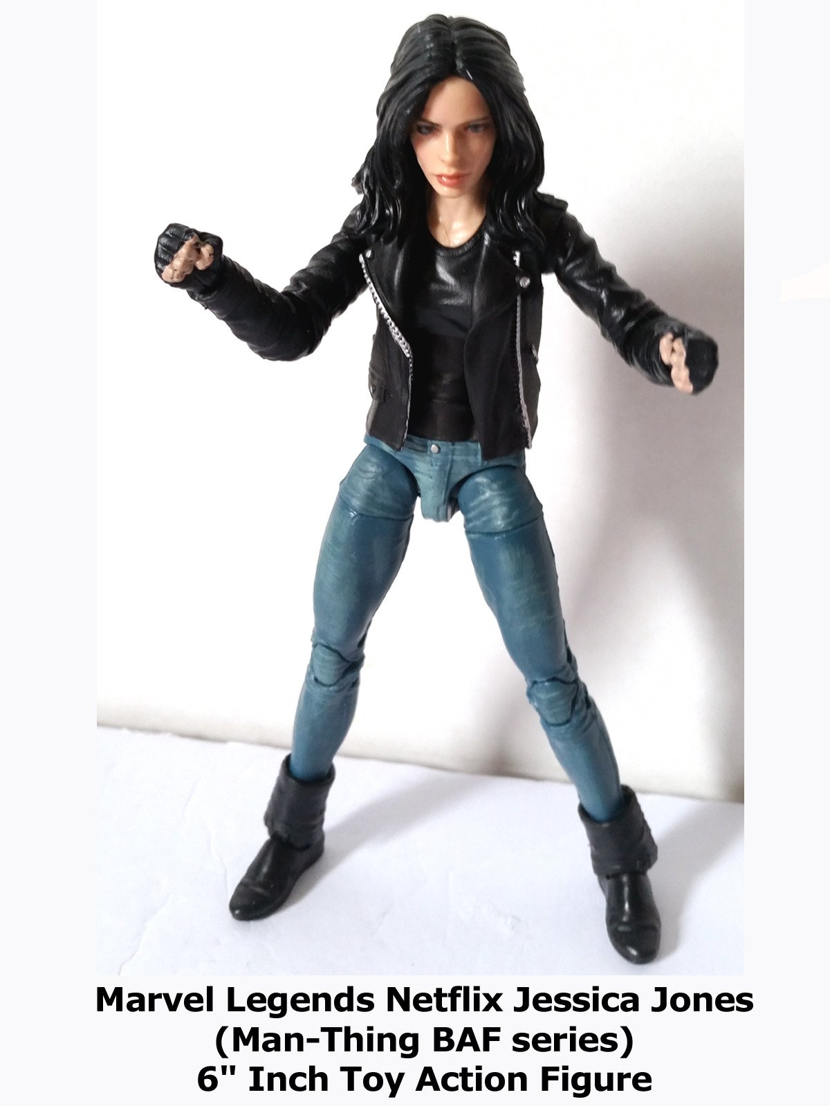 "Review: Marvel Legends Netflix Jessica Jones (Man-Thing BAF series) 6"" Inch Toy Action Figure"