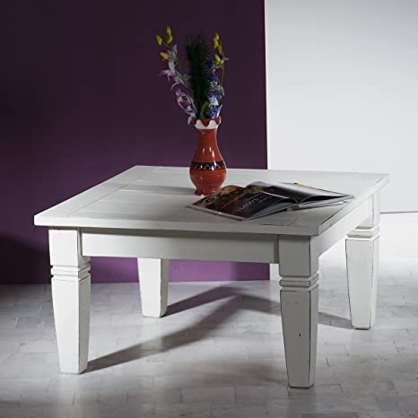 "SIT-möbel 6980-10 ""toledo Coffee table 80 x 80 x 45 cm with wear-White"