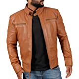 Laverapelle Men's Cognic Tan Genuine Lambskin Leather Jacket - 1501344-2XL (Color: 11c- Cognic Tan - With Fiberfill Lining, Tamaño: XX-Large)