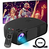 Video Projector DIWUER 1080P HD Portable Movie Projector 3500 Lumens Projectors Support AV VGA USB HDMI Laptop PC TV Smartphone for Office Home Cinema Entertainment Games Party (Color: Black760)