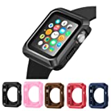 Apple Watch Case, iitee Universal Slim Rugged Protective TPU iWatch Case -5 Color Combination Pack for Apple Watch Series 3/2/1 (42mm)