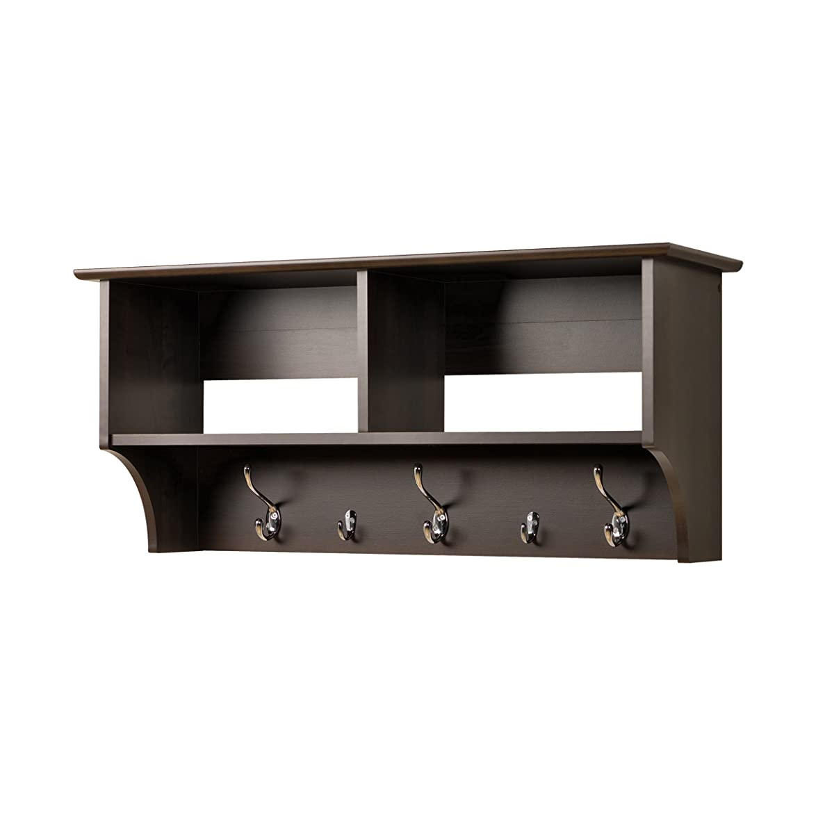 "Prepac 36"" Hanging Entryway Shelf, Espresso"