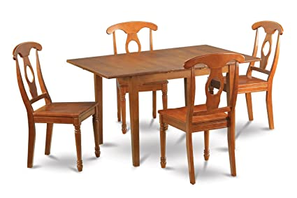 East West Furniture MLNA5-SBR-W 5-Piece Kitchen Table Set