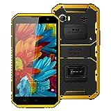 Hotsale! W9 Unlocked Cellphone 6inch 4G Phablet Octa Core Smartphone Android 5.1 2GB RAM 16GB ROM IP68 (Yellow) (Color: Yellow, Tamaño: Kenxinda W7)
