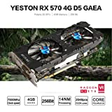 MChoice Yeston Radeon RX570 4GB GDDR5 PCI Express x16 3.0 Video Gaming Graphics Card External Graphics Card For Laptops