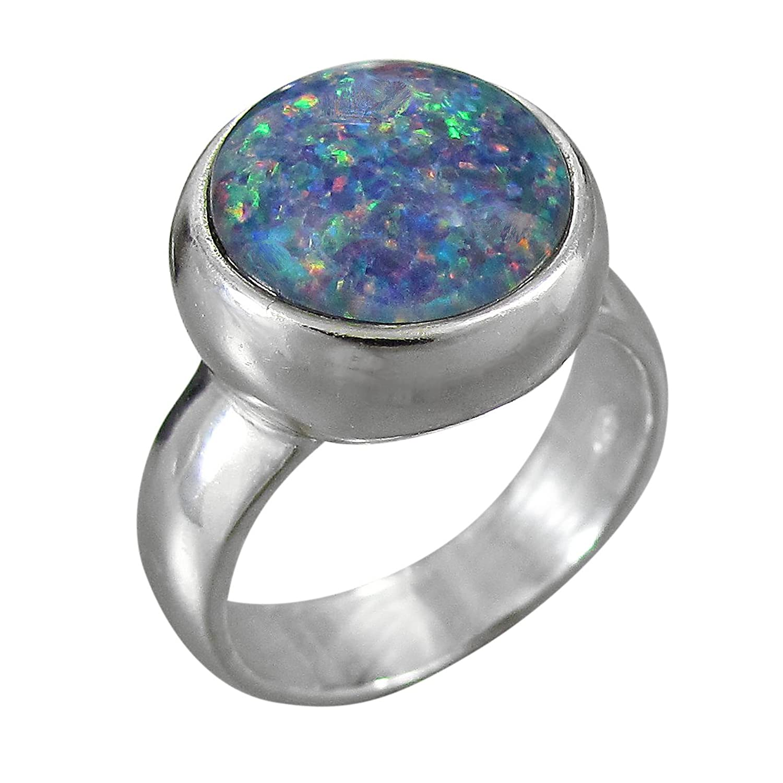 Schmuck-Michel Damen Ring Silber 925 Opal-Triplette 12 mm Größe 50 – 65 wählbar (R3) bestellen