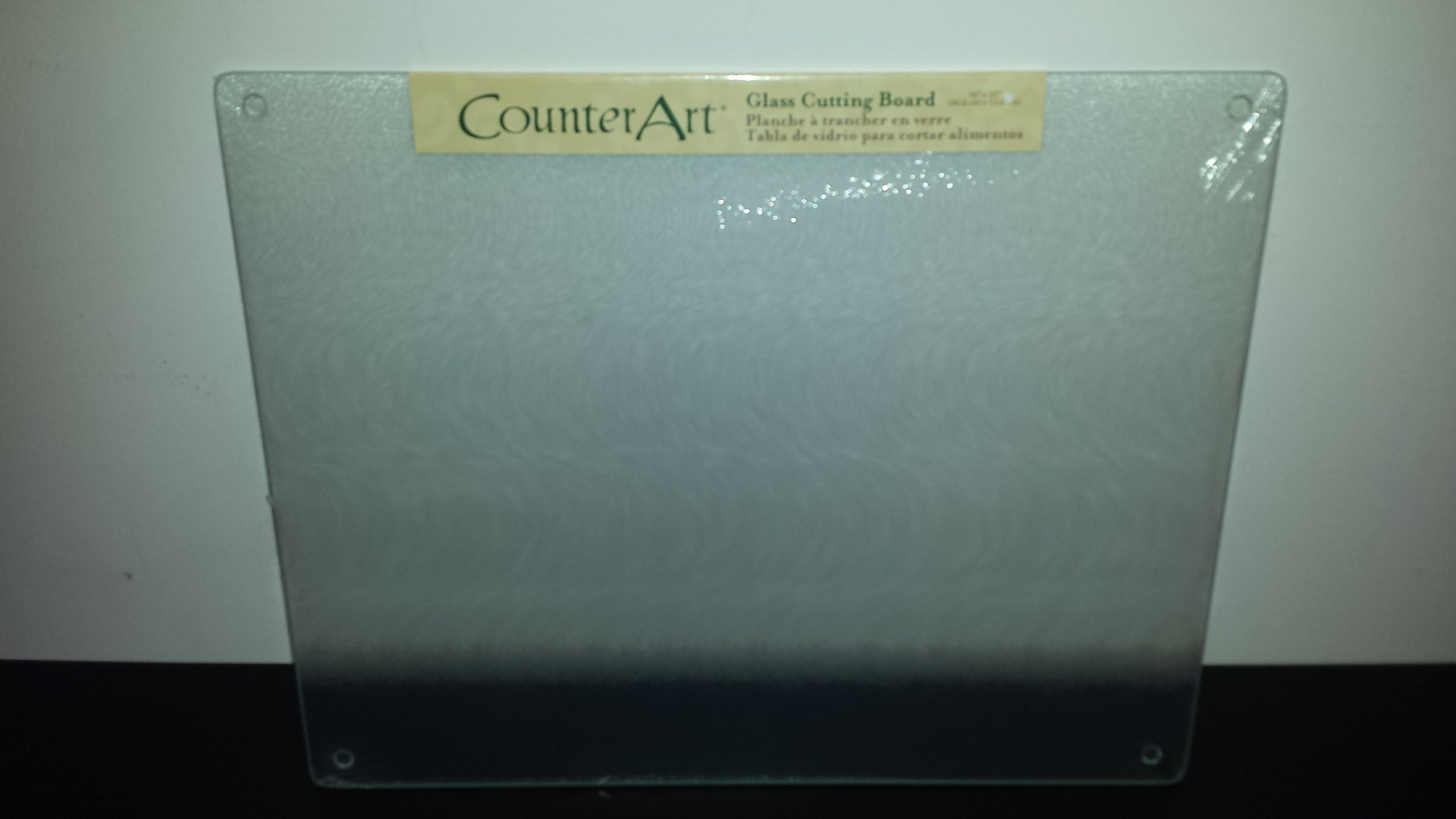 Surface saver tempered glass cutting board 20 x 16 inch clear 20 x 16 inch ebay - Decorative tempered glass cutting boards ...