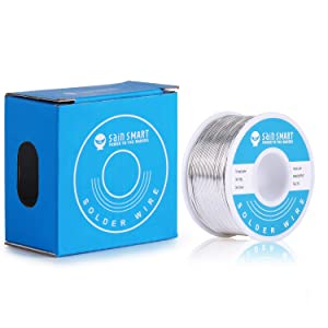 SainSmart 0.6mm Solder Wire 63/37 Tin/Lead Sn63Pb37 with Flux Rosin Core for Electrical Soldering (100g /0.22lbs) (Tamaño: 0.6mm/100g)