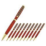 Legacy Woodturning, Slimline Pen Kit, Many Finishes, Multi-Packs (Color: Gold w Black Stripe)