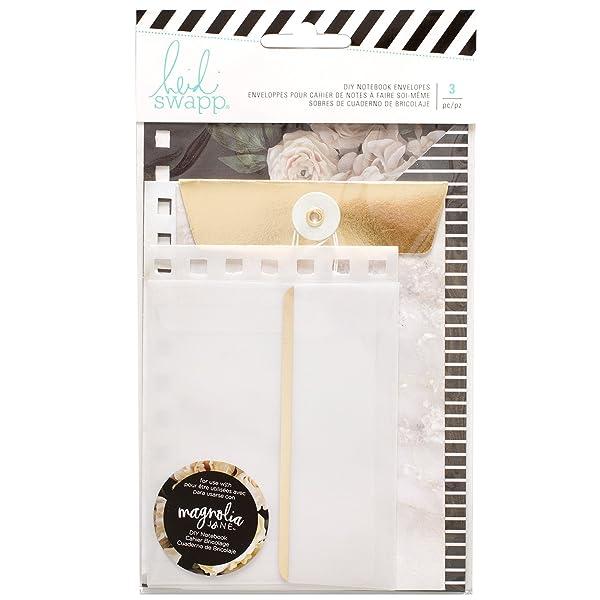 American Crafts Heidi Swapp Magnolia Lane Journaling 3 Piece DIY Envelope